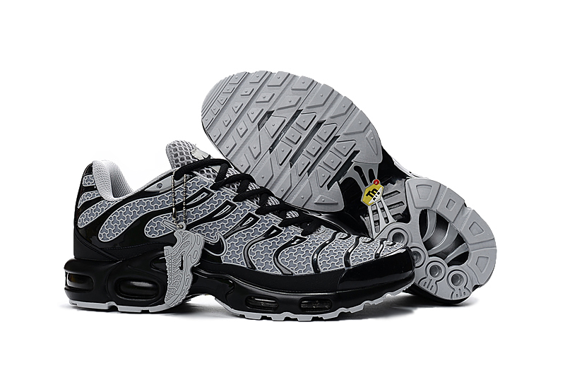 reputable site b0d56 20f83 Prev Nike Air Max Plus TXT TN KPU Black White Men Sneakers Running Trainers  Shoes 604133-. Zoom