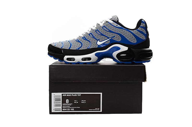 Nike Air Max Plus TXT TN KPU Navy Blue Gray Men Sneakers Running Trainers Shoes 604133 102