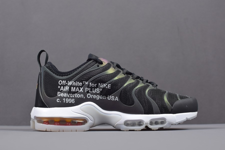 Off White x Nike Air Max Plus TN Ultra Iridescent Mens Size AA3827 001