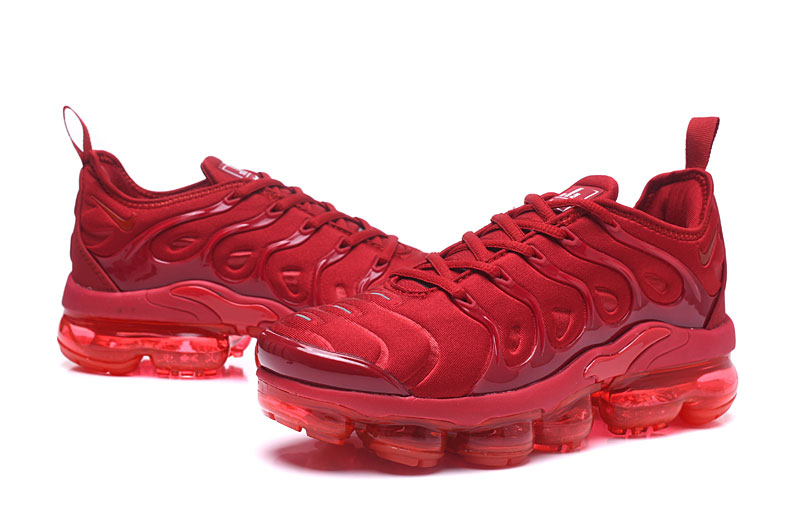 first rate for whole family look for Nike Air Vapor Max Plus TN TPU Running Shoes Chinese Red All