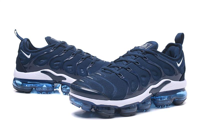 ec214fa24a Nike Air Vapor Max Plus TN TPU Running Shoes Deep Blue White - Sepsale