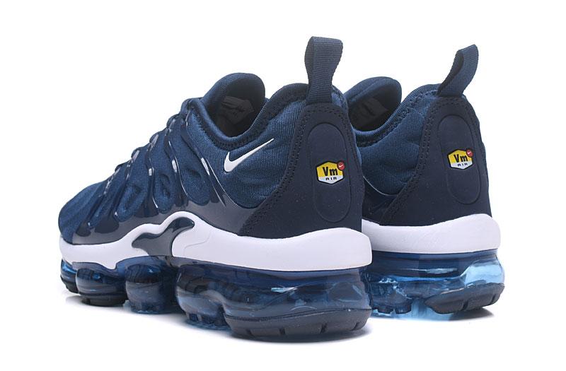 5aac252d2e Nike Air Vapor Max Plus TN TPU Running Shoes Deep Blue White - Sepsale