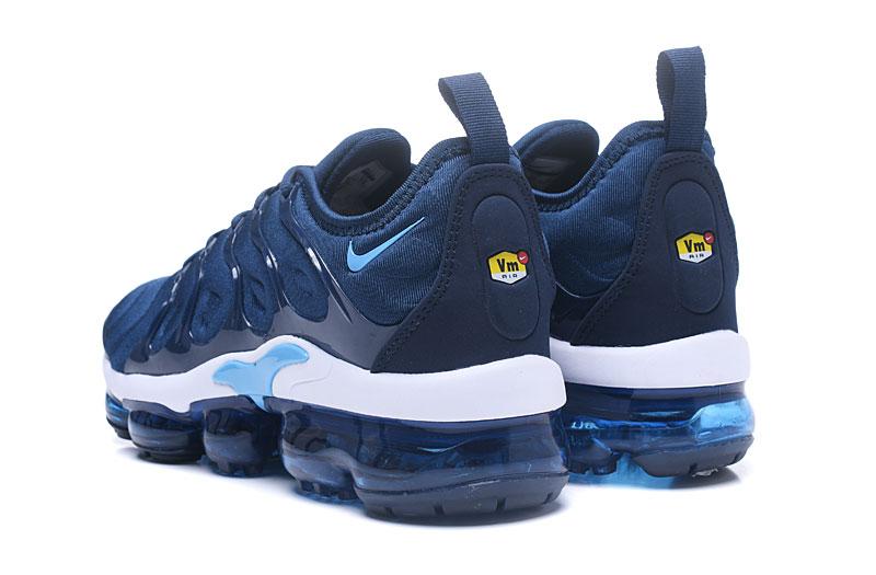 online store 0e9c7 50b80 Nike Air Vapor Max Plus TN TPU Running Shoes Deep Blue White