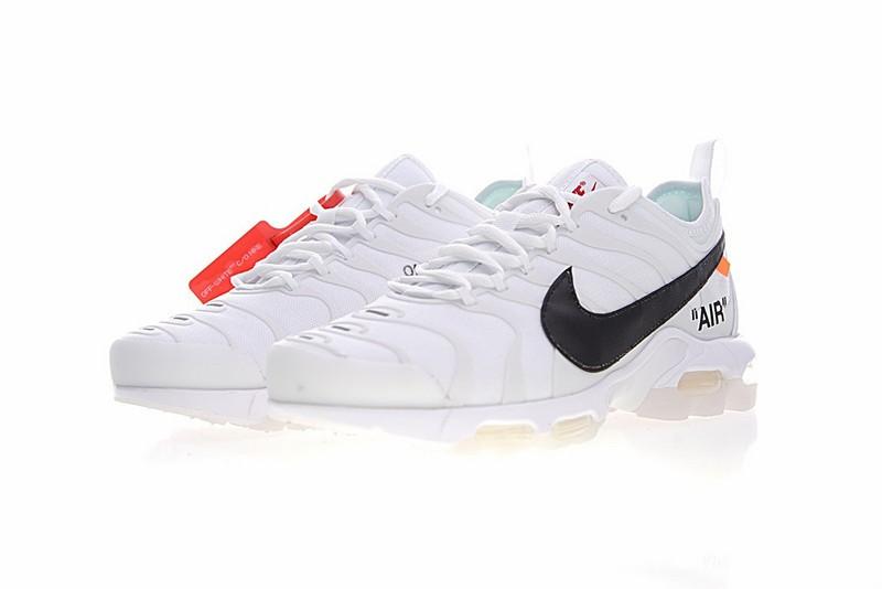 OFF White X Nike Air Max Plus TN Ultra Sneakers White Black AA3827 100