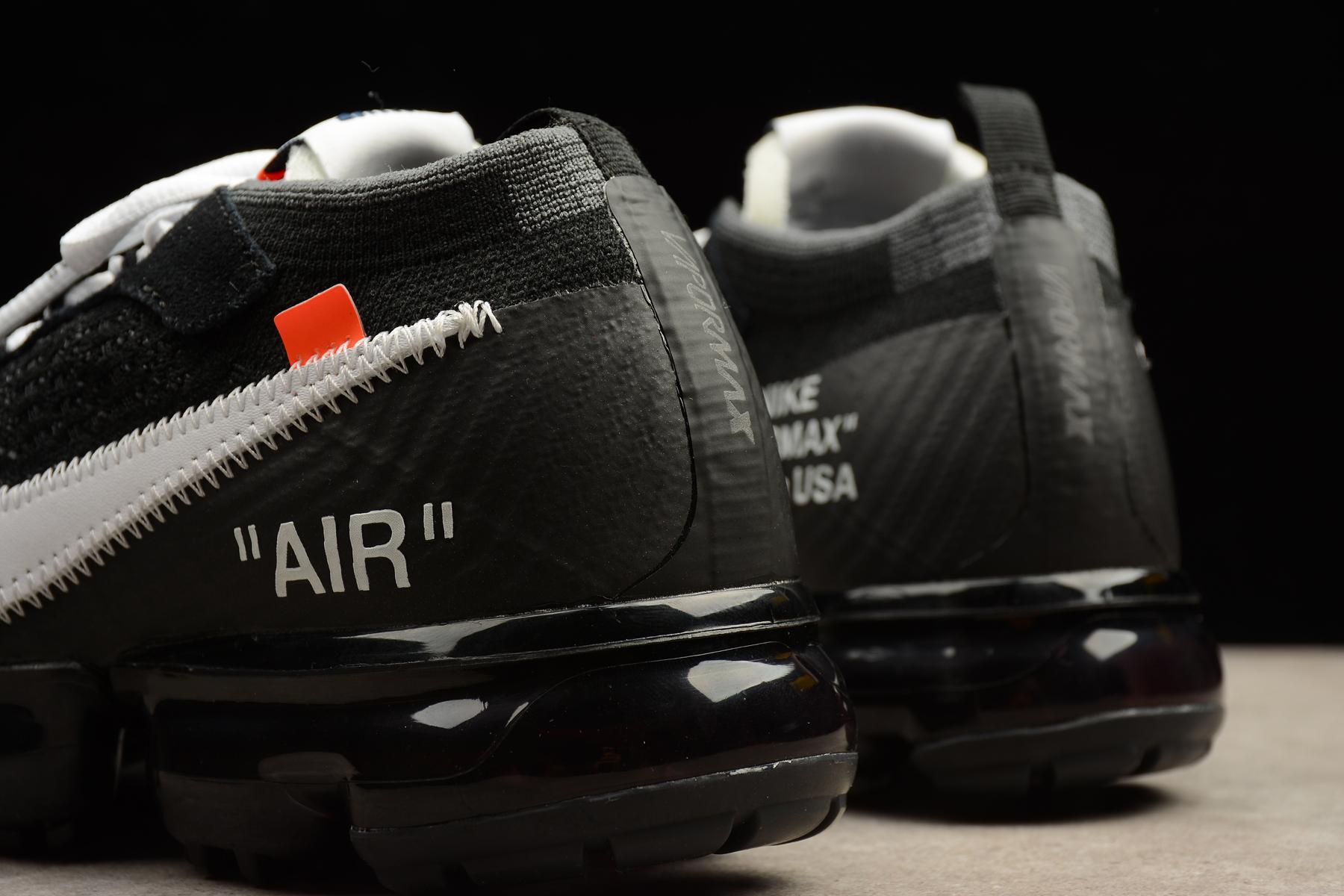 fda6188709 ... 2018 Off White X Nike Air Max Vapormax Men Running Shoes Black AA3831- 001