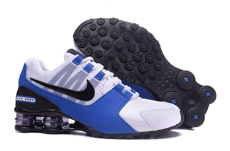 1e52c1baeb4 Nike Air Shox Avenue 802 White Blue Black Men Shoes - Sepsale