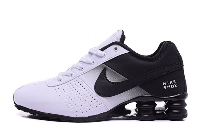 official photos abd6f 18bec ... Nike Shox Deliver Men Shoes Fade White Black Casual Trainers Sneakers  317547