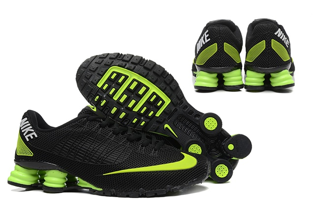 online store f6dbf 8df83 Nike Shox Turbo 21 KPU Men Shoes Sneakers Total Black Flu Green