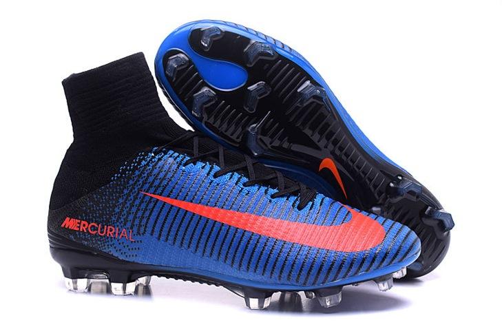 huge selection of a88ce 55f55 Prev NIke Mercurial Superfly V FG ACC Kids Soccers Shoes Royal Blue Black  Orange