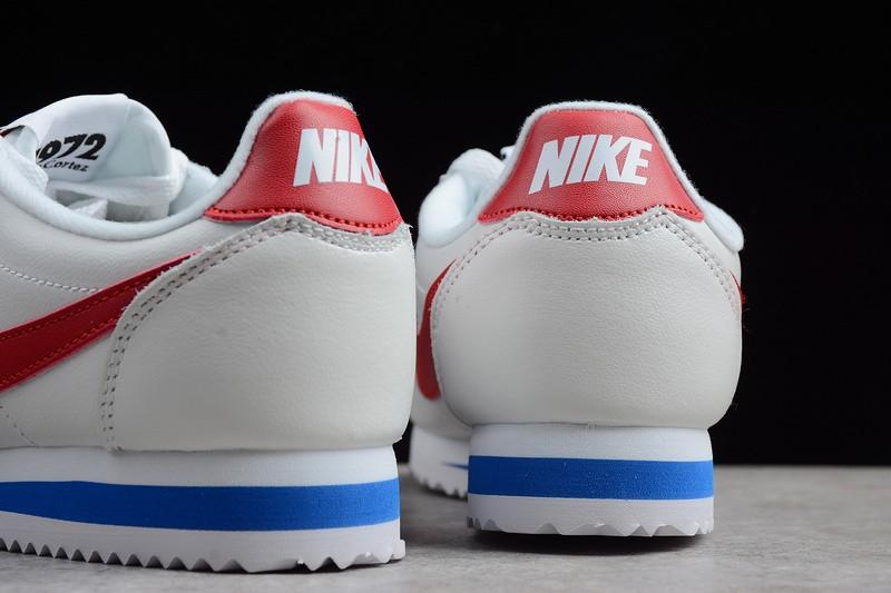 official photos c3ffd 41df1 Nike Classic Cortez Premium Forrest Gump White Varsity Red Blue 905614-100
