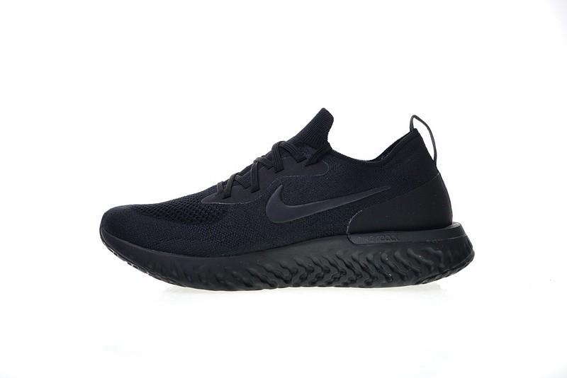 ee9ee6f57 Prev Nike Epic React Flyknit Triple Black Running Shoes AQ0067-003. Zoom