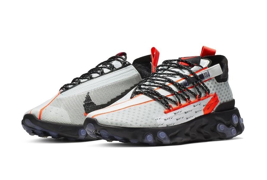 Nike React Runner ISPA Ghost Aqua Total Crimson Black CT2692 400