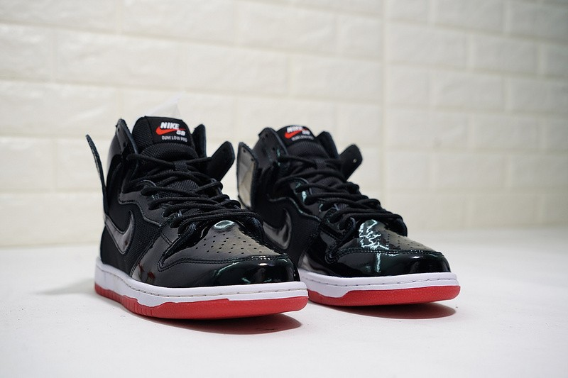 huge selection of df66b b0208 Nike SB Dunk High Bred Black White Varsity Red AJ7730-001 ...