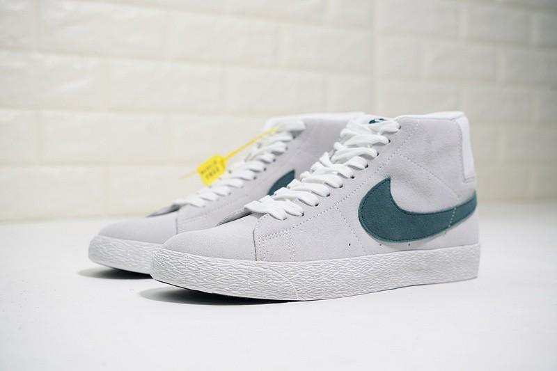 premium selection 21540 a73a0 Nike SB Zoom Blazer Mid Canvas White Cedar Dark Green Grey AH6416-117