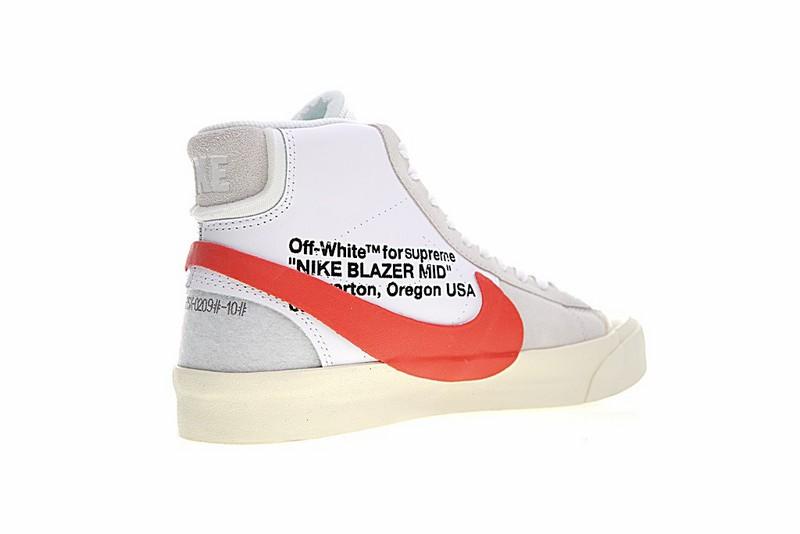 size 40 2210c 624f6 Supreme x Nike Blazer Mid x Off White OW White Red AA3832-006