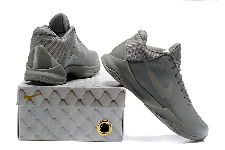 info for 8cf65 36df4 Nike Zoom Kobe V 5 Low FTB Fade To Black Grey Men Basketball Shoes  869454-006
