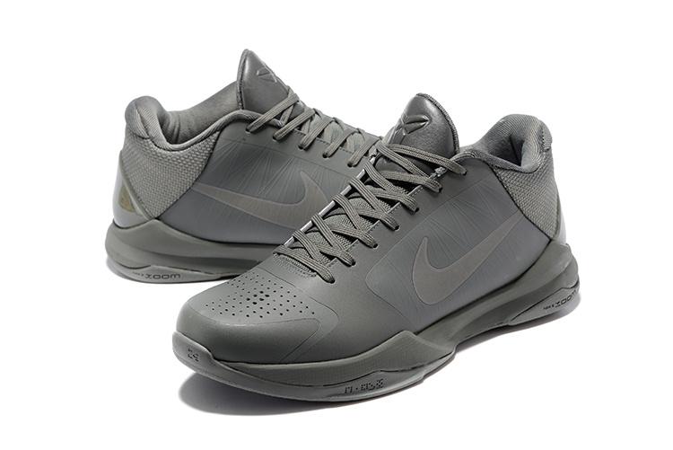 info for 05c48 e1d20 Nike Zoom Kobe V 5 Low FTB Fade To Black Grey Men Basketball Shoes  869454-006