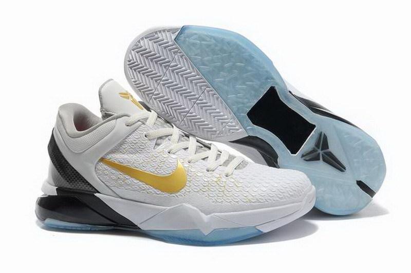 cheap for discount 5aa3b ead5a Nike Zoom Kobe VII 7 System Elite Home White Mtlc Gold 511371-100 ...