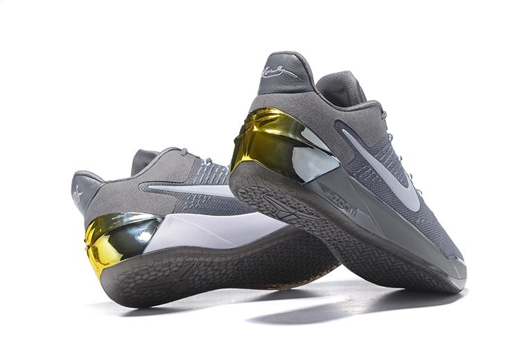 quality design ca487 79286 Nike Zoom Kobe 12 AD Gray White Golden Men Basketball Shoes