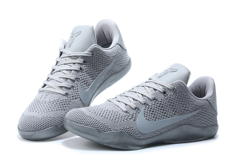 competitive price 12b91 79f59 Nike Zoom Kobe XI 11 Elite PE Low Silver Gray Men Basketball Shoes  835649-994