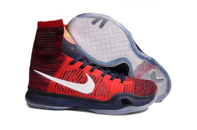 separation shoes b1b16 ddf09 Nike Kobe X 10 Elite High American USA University Red Shoes 718763 ...