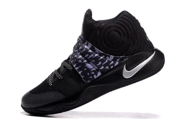 the latest 5ea62 cab9b Nike Kyrie II 2 Black Silver Tie Dye Men Shoes 819583 002