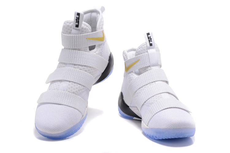 timeless design a7e9f 49751 Nike Zoom LeBron Soldier XI 11 White Yellow Men Basketball Shoes