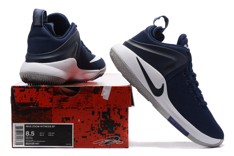 Nike Zoom Witness EP deep blue white Men Basketball Shoes 852439 441