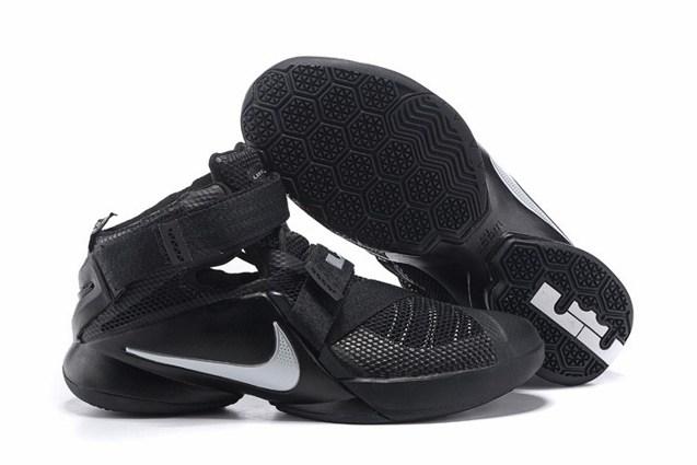 new arrival b6a6a 59511 Prev Nike Lebron Soldier IX 9 Black Metallic Silver Men Basketball Shoes  749417-001. Zoom
