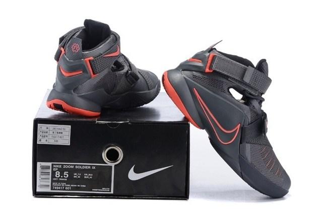 release date: 1b814 bb182 Nike Lebron Soldier IX 9 PRM EP Dark Grey LBJ Men Basketball Shoes  749491-008