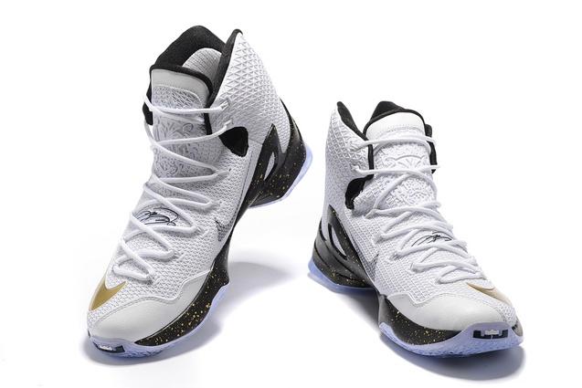 best website 61ab8 984f1 Nike Lebron XIII Elite EP 13 White Gold Men Basketball Shoes James 831924  170