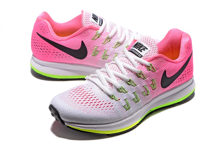 check out d3af9 5a27e ... Nike WMNS Air Zoom Pegasus 33 Women Running Sneakers White Pink Green  831356-106 ...