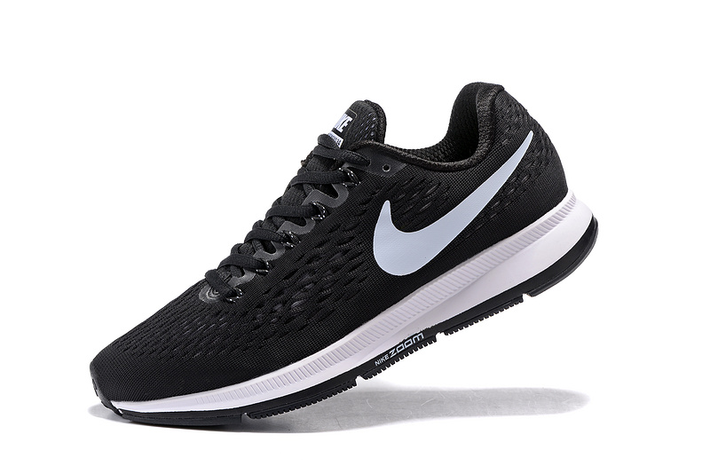 Nike Air Zoom Pegasus 34 EM Men Running Shoes Sneakers Trainers Black White 831350 001