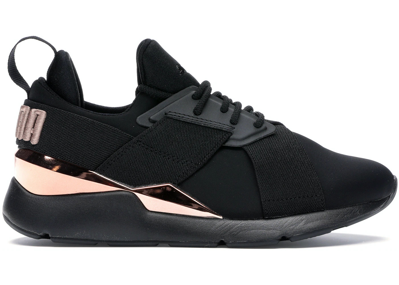 Puma Wmns Muse Metal Rose Gold Black Casual Shoes Sneakers 367047 01 Sepsale