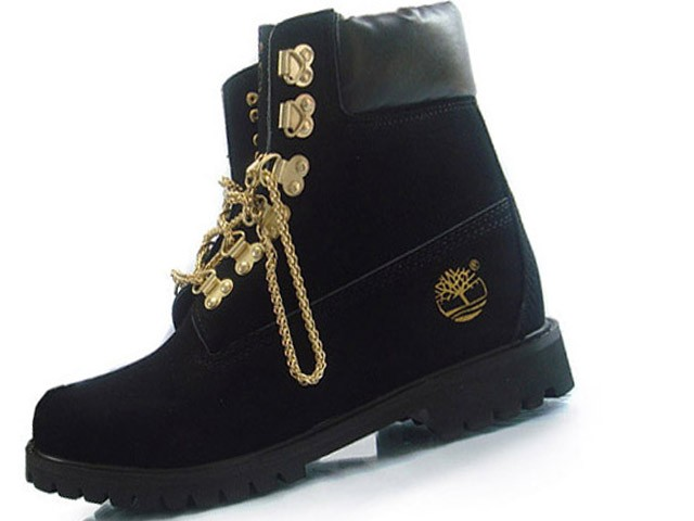 Timberland Custom 6 inch Premium Boots For Men Black Gold